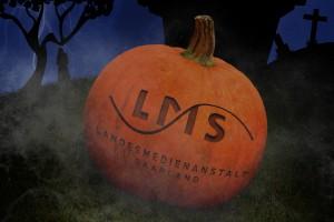 Kürbis mit LMS-Logo