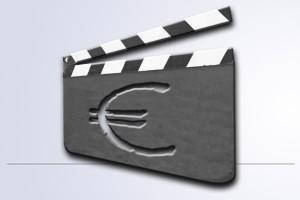 Filmklappe mit Euro-Zeichen